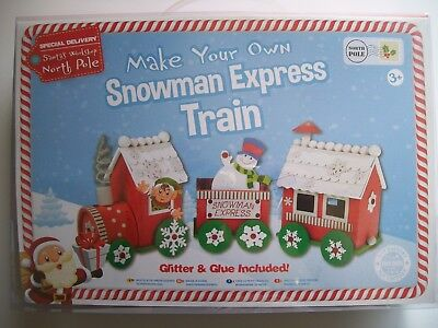 2 Craft Kits Make Your Own Snowman Express Train And Christmas Tree