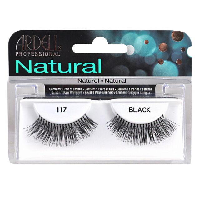 206c6c25d0f 2 Pairs x Ardell Natural Lashes #117 False Eyelashes Fake Lash Eyelash Black