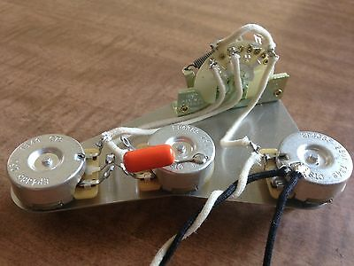 Fender Telecaster 4 Way Switch Wiring Harness 250k CTS Pots .022 Orange Drop