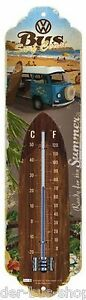 VW-Bus-T2-Summer-Thermometer-6-5-x-28-cm-Neu-amp-OVP