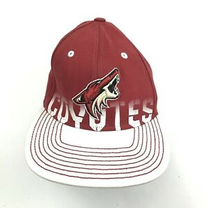 VINTAGE Reebok Arizona Coyotes Hat Cap Stretch Fit Size S-M NHL Hockey Face Off