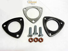 3 Bolt Exhaust Pipe Flange Set - 55mm Bore - 8 mm flanges - 2 Flanges + Gasket