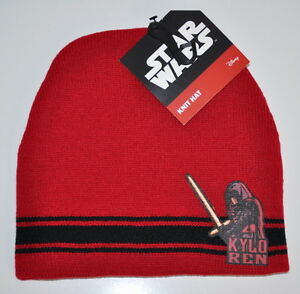 star wars boys beanie Kylo Ren new with tags one size 4-8 years Knit ... 1344be544565