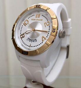 2197938d25d2 Genuine HUGO BOSS Designer watch Boss Orange Date Mens White Silicon ...