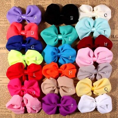 30pcs Artificial Boutique Bowknot For Kids Headbands Hair Bows NO CLIPS