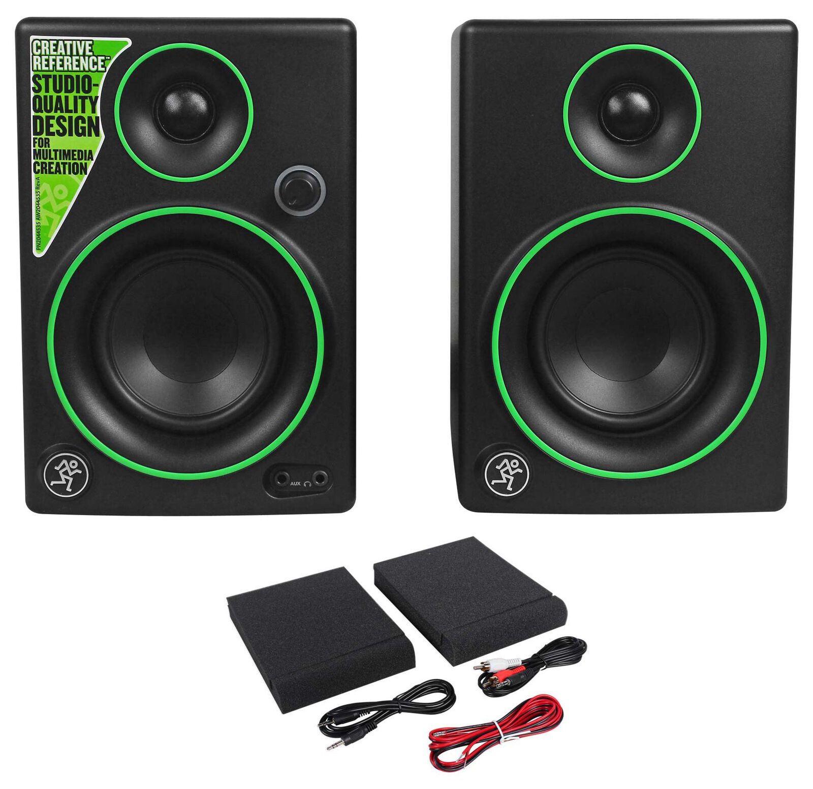 Pair New Mackie CR3 3  Creative Reference Multimedia Monitors Speakers (Pair)