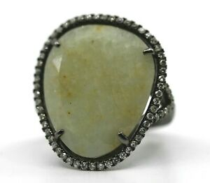 Designer-Meira-T-Chalcedony-and-Diamond-Silver-Ring