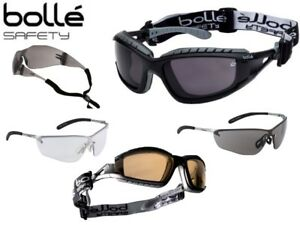 Bolle Safety Glasses - Smoke, Clear or Yellow lens, Anti Fog, Strap ... 87260e78ce7c