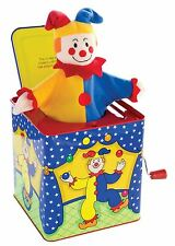 JESTER JACK IN THE BOX CLOWN - Traditional Musical Wind Up Tin Toy Baby Toddler