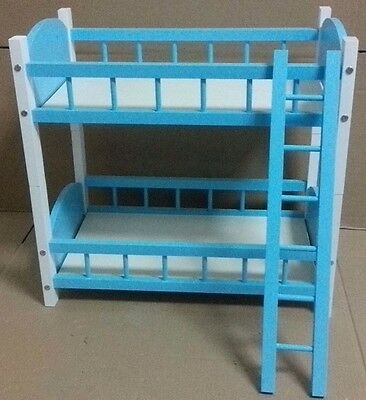 Doll Furniture Blue Bunk Beds~1/4 Scale BJD