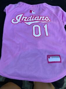 new style 9ca82 866bf Details about Cleveland Indians Pink Pet Jersey