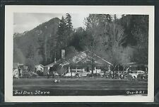 WA Olympic National Park RPPC 1950's SOL DUC HOT SPRINGS STORE & Cars by Gos-221