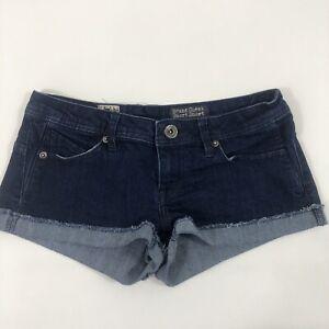 VOLCOM-Jean-Junior-s-Sz-3-Dark-Blue-Sound-Check-Short-Short-Fit-Denim-Shorts