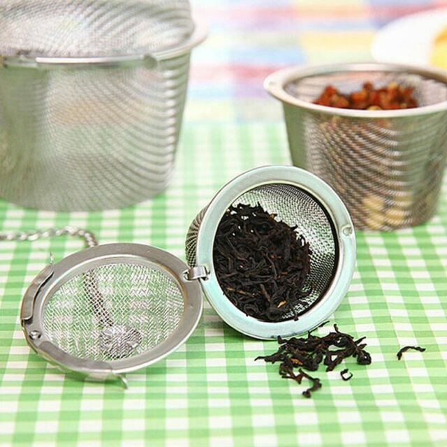 Stainless Steel Kettles Tea Sphere Egg Shape Ball Mesh Infuser Tea Strainer  I