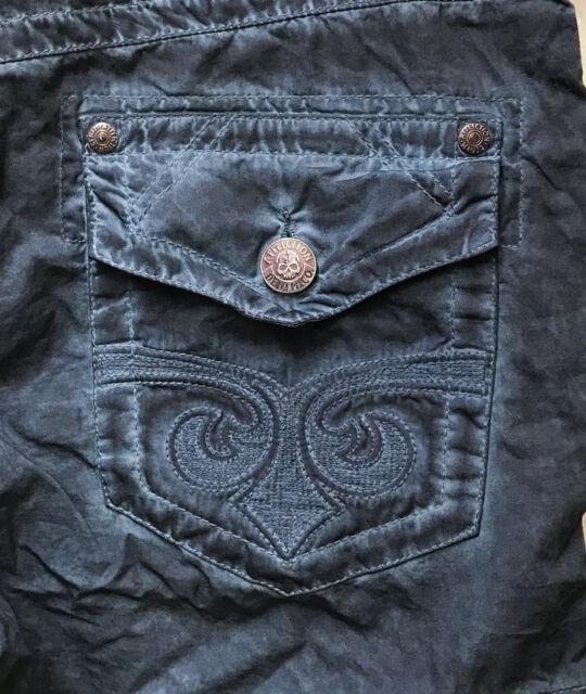 AFFLICTION American Brand Mens Vintage Sahara Cargo Shorts w/ Belt Navy  NWT