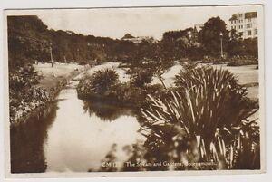 Dorset-Tarjeta-Postal-The-Stream-y-Jardines-Bournemouth-Rosa-u-1932-A862