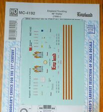 Microscale Decal HO #MC-4192 England Trucking 48' Trailer (1990+) Decal sheet