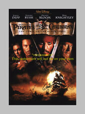 PIRATES OF CARIBBEAN BLACK PEARL PP SIGNED POSTER 12X8""