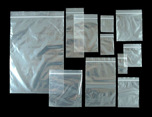 Grip seal resealable self seal clear plastic polyethylene Zip lock BAGS.Allsizes