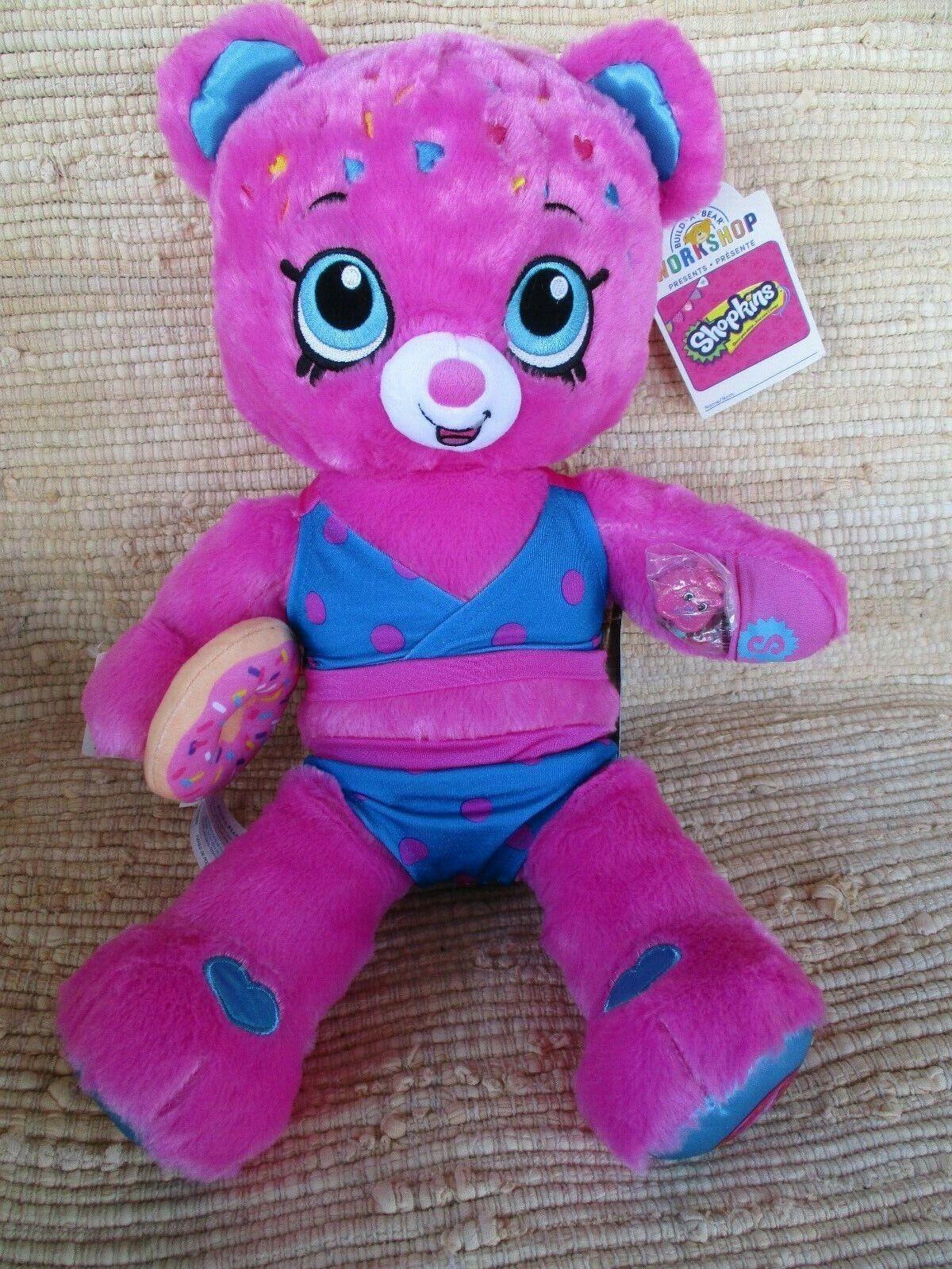 BABW Shopkins Sprinkle D'lish Donut Bear 18 Stuffed Pink-Bikini,ToyDonut Wristie