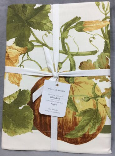 "Williams Sonoma Botanical Pumpkin 70x90"" Tablecloth"