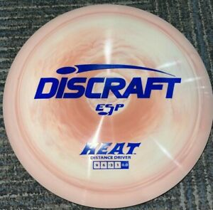 NEW DISCRAFT SWIRLY ESP HEAT DISC GOLF DRIVER PEACH / NAVY 170-2G @ LSDISCS