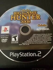 Cabela-039-s-Big-Game-Hunter-2008-PlayStation-2-PS2-Disc-Only-Tested