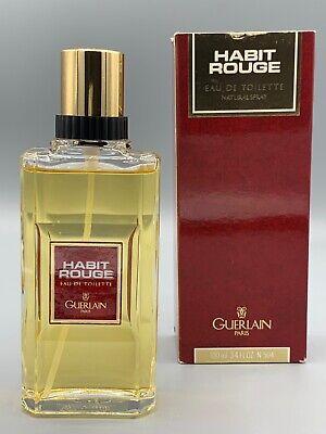 Guerlain Habit Rouge Eau De Toilette 100 Ml Vintage Spray New 3346470234741 Ebay