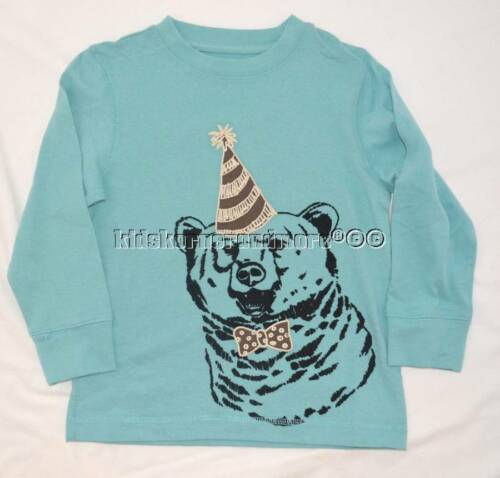 Gymboree Animal Party 4 6 Shirts Party Hat Bear Owl Blue Winter