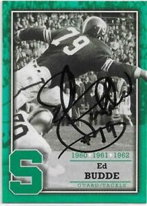 ED BUDDE Autographed Signed 2003 Football card #F9 Michigan State Spartans COA