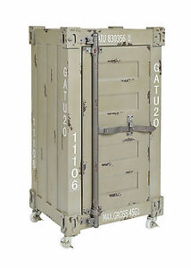 kommode schrank roll container shabby industrie design 75 x 39 cm mit rollen neu ebay. Black Bedroom Furniture Sets. Home Design Ideas