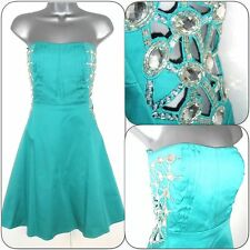 Jane Norman Jade Strapless Cut Out Jewel Embellished Evening Occasion Dress 10