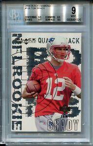 2000-Black-Diamond-Football-126-Tom-Brady-Rookie-Card-RC-Graded-BGS-Mint-9