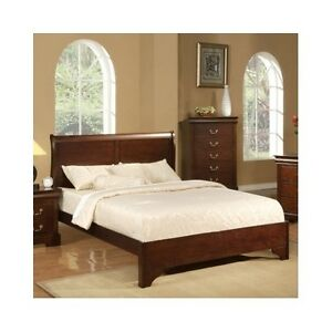 Queen Sleigh Bed Frame Wood Headboard Solid Elegant Furniture Classic