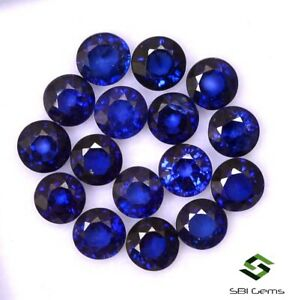 4-92-CTS-Natural-Blue-Sapphire-Round-Cut-4-mm-Lot-16-Pcs-Calibrated-Loose-Gems