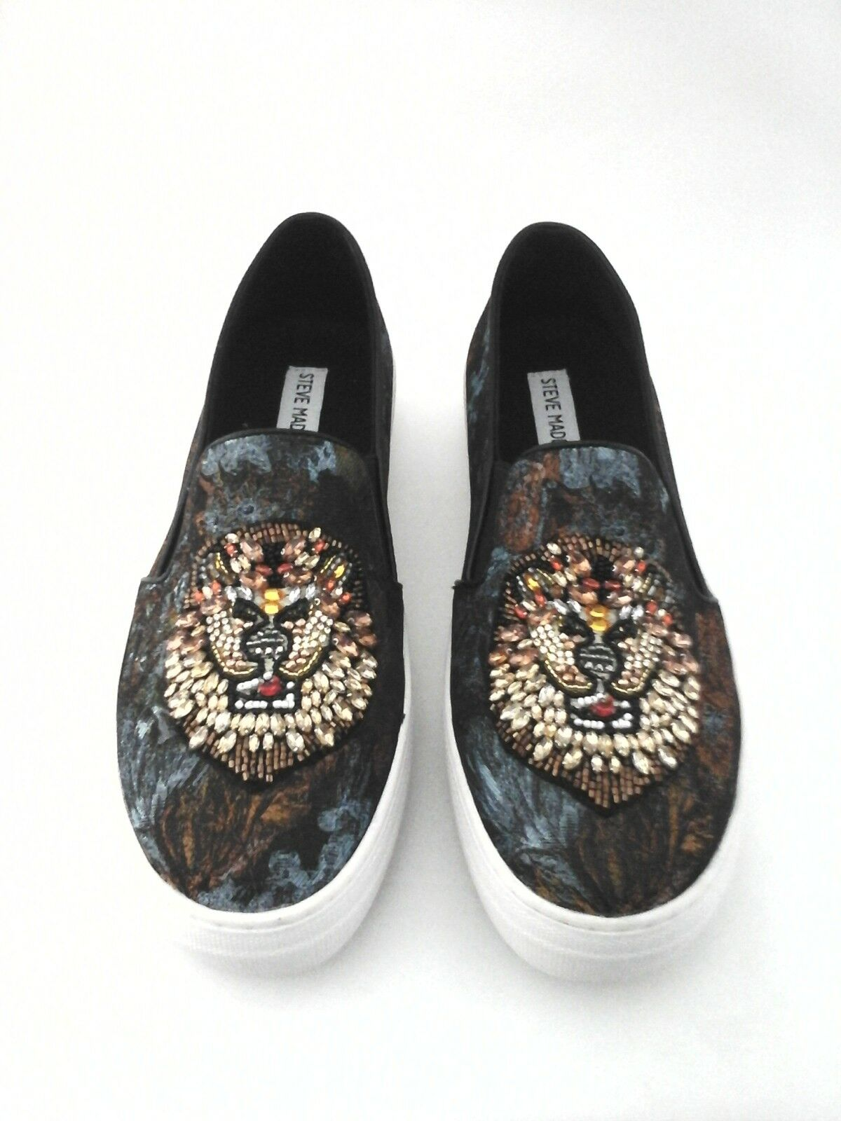 Steve Madden Fiasco Women's Beaded Animal Slip On Sneakers Shoes US 9 New