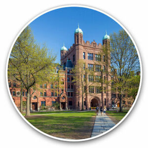 2-x-Vinyl-Stickers-7-5cm-Yale-University-Buildings-Connecticut-USA-Cool-Gift