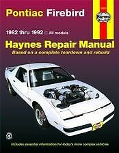 82-92 Firebird Trans Am Haynes Repair Manual NEW Service Book Owners Shop