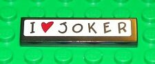 LEGO 7886 - Tile 1 x 4 with 'I Heart (Love) Joker' Pattern (Sticker) - Black