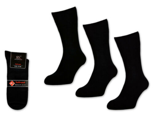 6 12 o 24 paia di calze da uomo Misure grandi Nero Calze Cotone 47 48 49 50