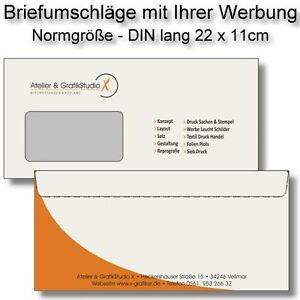Briefumschläge Mit Werbeaufdruck Layout Drucken Bedruckt