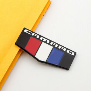 1Pcs Matte Black Metal Fender CAMARO Logo Badge Car Door Emblem Sticker 3D Decal