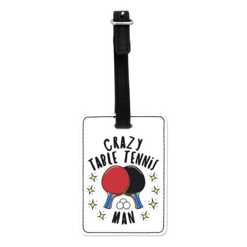 Crazy Table Tennis Man Stars Visual Luggage Tag Suitcase Bag Ping Pong Sport
