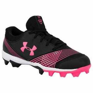 UNDER ARMOUR Womens Glyde RM Softball Cleats Pink//Black 1297334-064