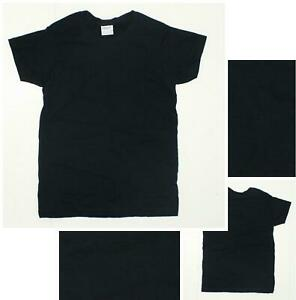 nEW-Gildan-ULTRA-COTTON-2000L-Women-039-s-Short-Sleeve-Crewneck-T-Shirt-Black-XS