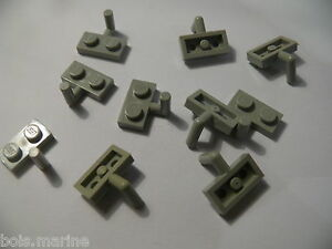 Lego-10-plates-mod-gris-clair-6940-2531-5521-6636-10-light-gray-plate-with-arm