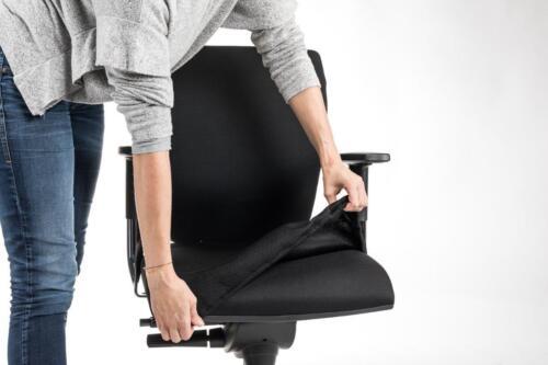 PREMIUM Bürostuhl Überzug Sitzfläche Husse Cover Abdeckung Bezug SCHWARZ 52x52cm