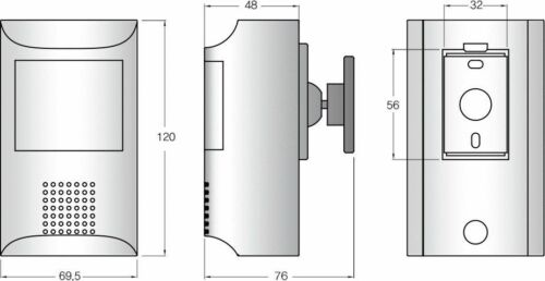 2.4MP HD TVI//CVI//AHD//CVBS 1080P 3.7mm Lens Small PIR Covert Hidden Camera DC12V