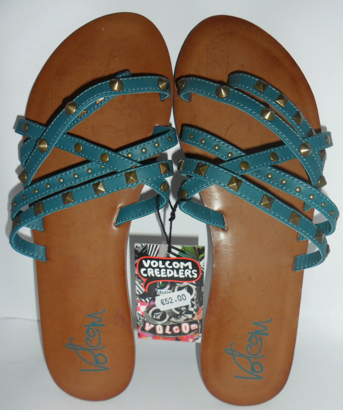 Sandali donna VOLCOM Creedlers turquoise Here to Stay cod. W0811254 turquoise Creedlers blue d7280d