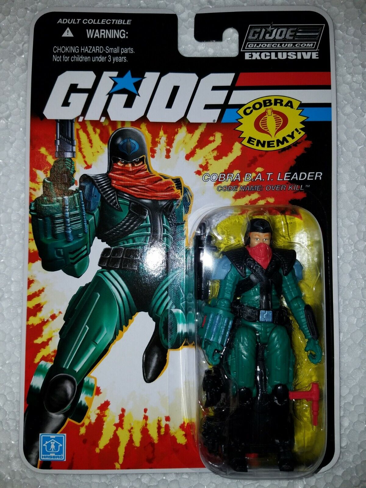 G.I.JOE EXCLUSIVE CLUB FSS 8.0  OVER KILL - COBRA B.A.T. LEADER